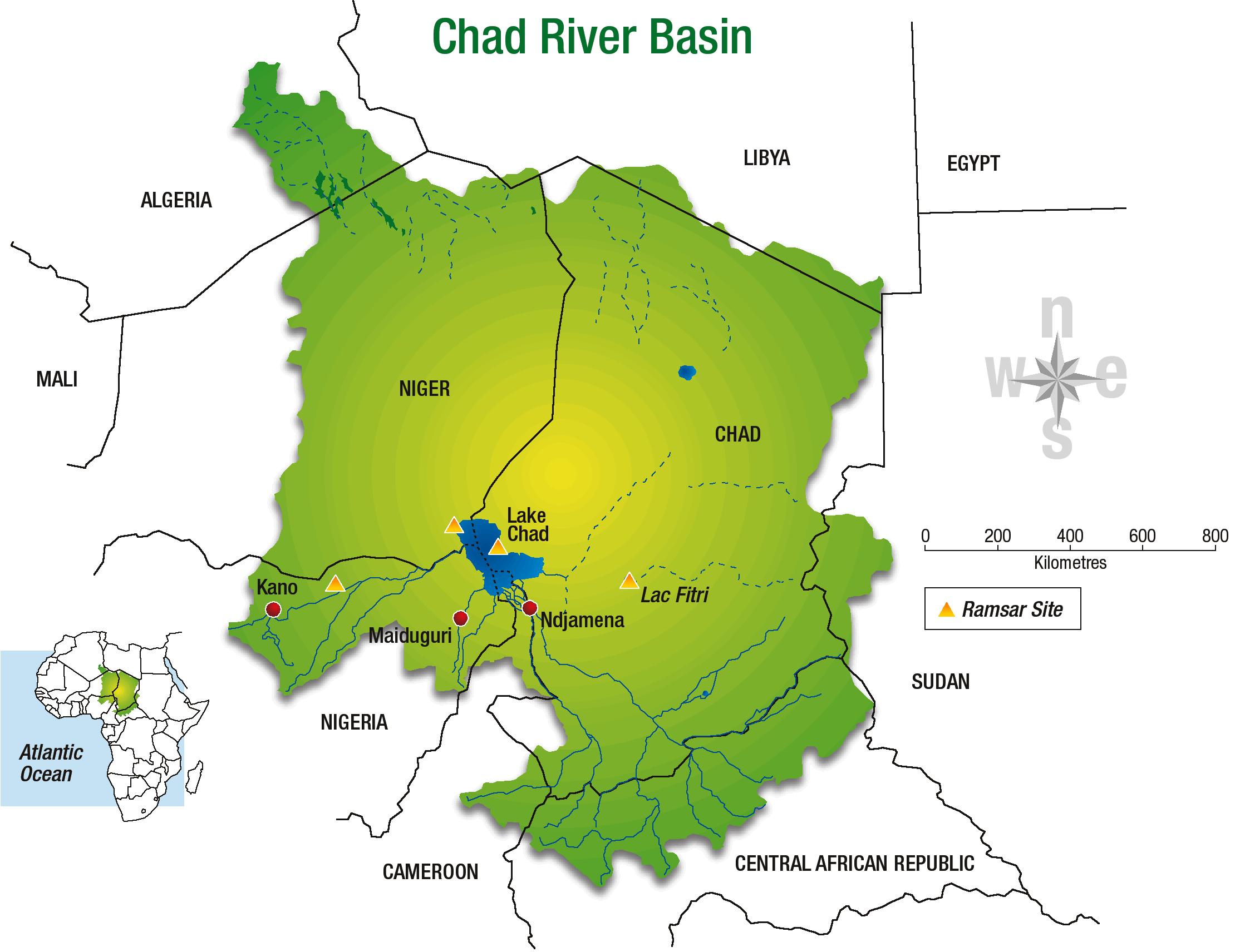Carte Afrique Lac Tchad.La Collaboration Dans Le Bassin Du Lac Tchad